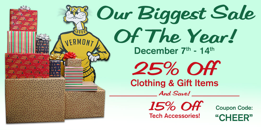 25% Off Most Clothing & Gift Items. Use Code CHEER
