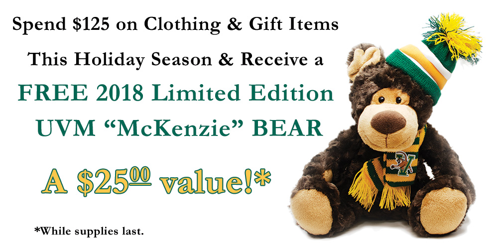 Free Bear with $125.00 purchase
