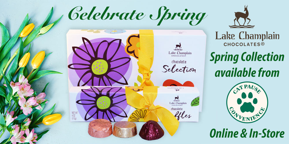 Spring Chocolate Collection From Lake Champlain Chocolates available at Cat Pause Convenience in-store and online