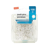 Staples Brand Clear Push Pins