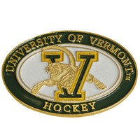 Hockey V/Cat Oval Pin