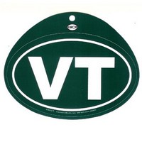 Green VT Oval Euro Decal