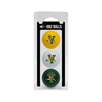 Golf Ball Three Pack (White/Forest/Yellow)