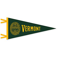 "4"" x 9"" VERMONT SEAL PENNANT"