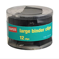 Staples Brand Binder Clips