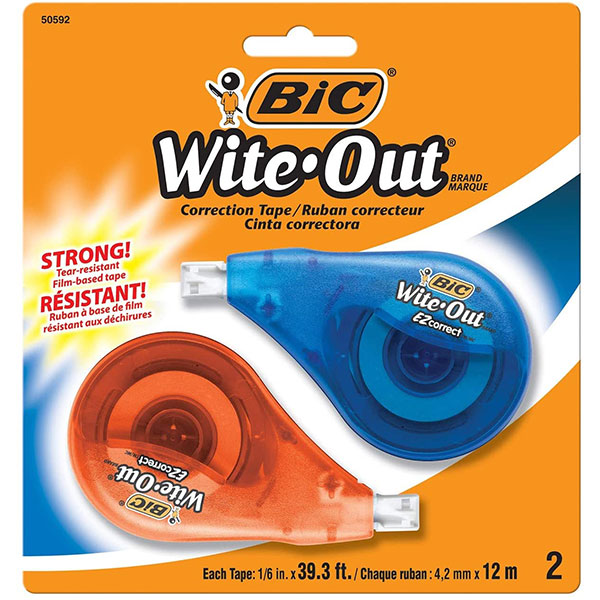 Bic Wite-Out Tape 2Pk (SKU 113597531270)