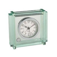 Crystal Block Jade Clock