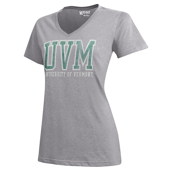 Gear For Sport Ladies UVM Spellout V-Neck (SKU 116250871067)