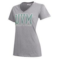 Gear For Sport Ladies Uvm Spellout V-Neck