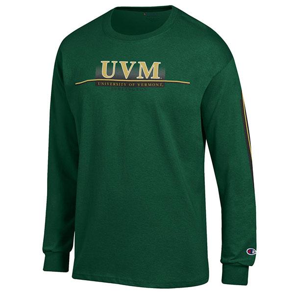 059c80da7e01 Champion Uvm Spellout Long Sleeve T-Shirt | The UVM Bookstore