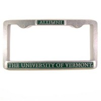 License Plate Frame Alumni