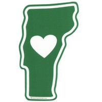 Vermont Heart Static Cling