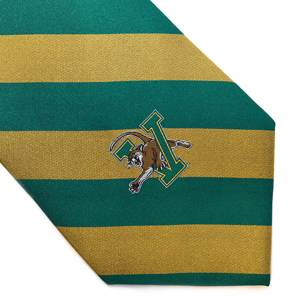 Necktie - Green & Gold Diagonal Stripes (SKU 120298841092)