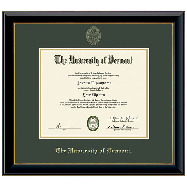Embossed Onyx Gold Diploma Frame (SKU 120767891109)