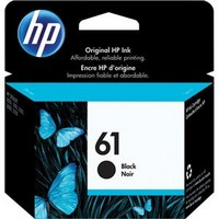 Hp Ink Cartridge #61 Black
