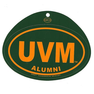 Alumni UVM Euro Decal (SKU 121091661085)