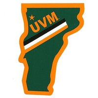 Vermont Shaped UVM Sticker