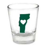 Shot Glass Vermont Heart