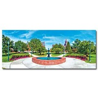 University Green Panoramic Postcard