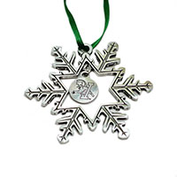 Danforth V/Cat Snowflake Ornament