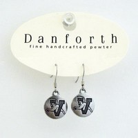 Danforth V/Cat Pewter Earings