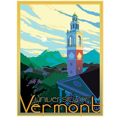 University Of Vermont Faux Vintage Poster (SKU 122217141083)