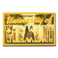 Greetings From The University Of Vermont Vintage Magnet