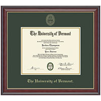 Embossed Double Mat Studio Gold Diploma Frame