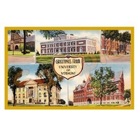 Campus Collage Vintage Magnet