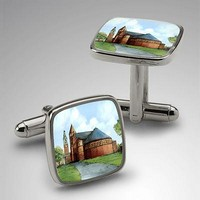Eglomise Sterling Silver Cufflinks