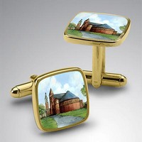 Eglomise 24K Gold Plated Cufflinks