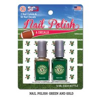 Green & Gold Nail Polish Kit