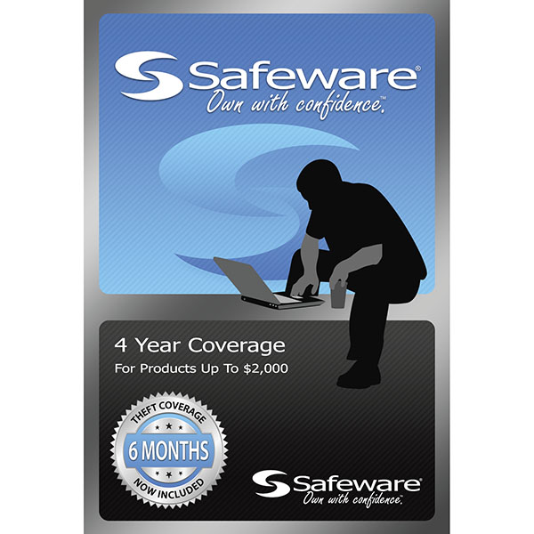 Safeware 4 Yr. Coverage For Products Up To $2000 (SKU 123919981163)