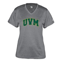 Badger Ladies Uvm V-Neck Pro-Heather Tee