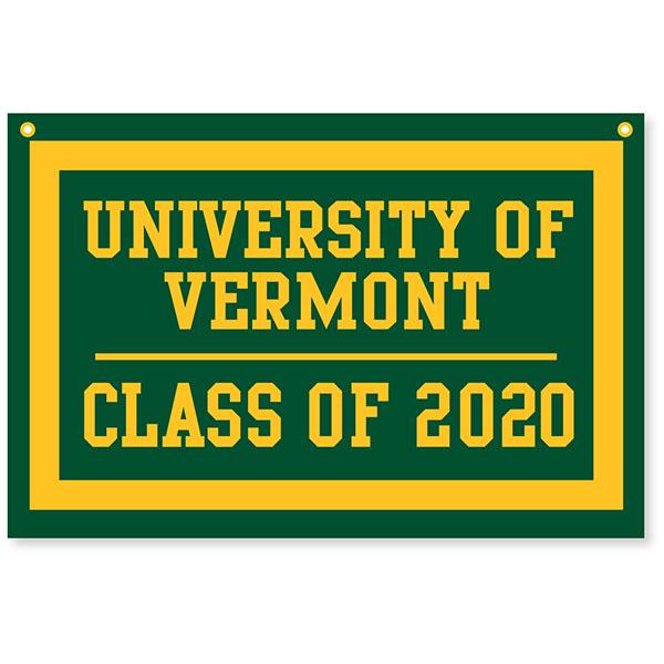 Uvm 2020 Calendar Class Of 2020 Banner | The UVM Bookstore