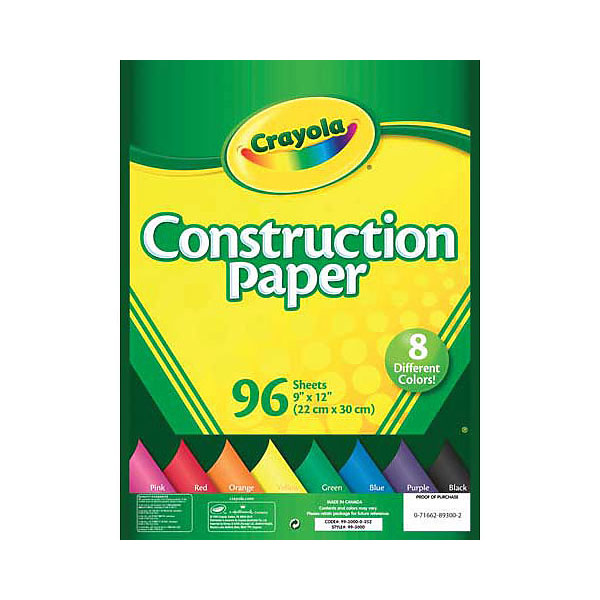 Crayola Construction Paper (SKU 124138741254)