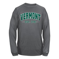 Badger Arched Vermont Back V/Cat Long Sleeve Tee