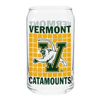 Vermont Catamounts Soda Can Glass