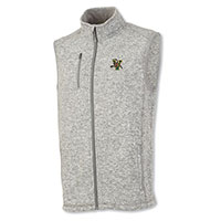Charles River Men's V/Cat Heathered Sweater Fleece Vest
