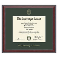 Embossed Single Mat Studio Diploma Frame
