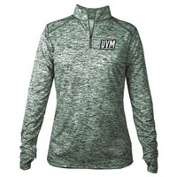 Badger Ladies Uvm Blend Performance 1/4 Zip Tee