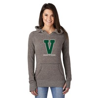Campus Crew Ladies Big V Notched Hoodie