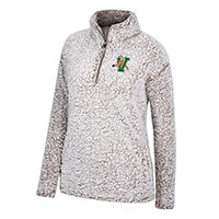 Top Of The World Ladies V/Cat Faux Shearling 1/4 Zip