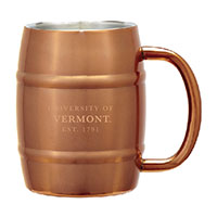 Copper Metal Barrel Tonal Spellout Mug