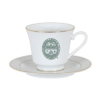 University Seal Tea Cup And Saucer