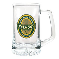 Glass Tankard Vermont Foil Seal