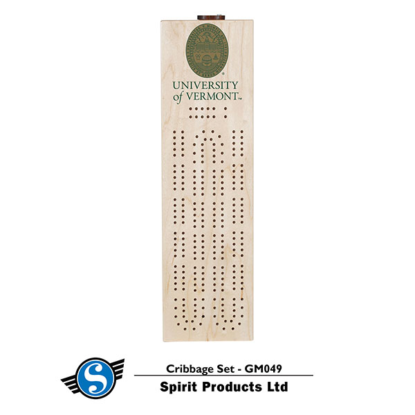 Cribbage Board With University Seal (SKU 125053641083)