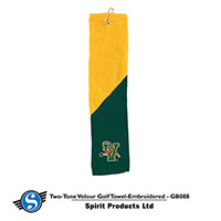 Two Tone V/Cat Golf Towel