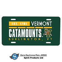 Vermont Catamounts License Plate Cover