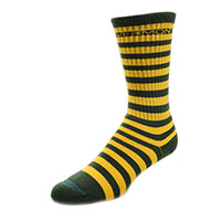 Fbf Originals Green & Gold Striped Socks